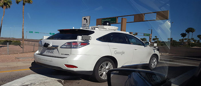 Google self driving cars now in the valley garagefly for Self auto niortais garage automobiles niort